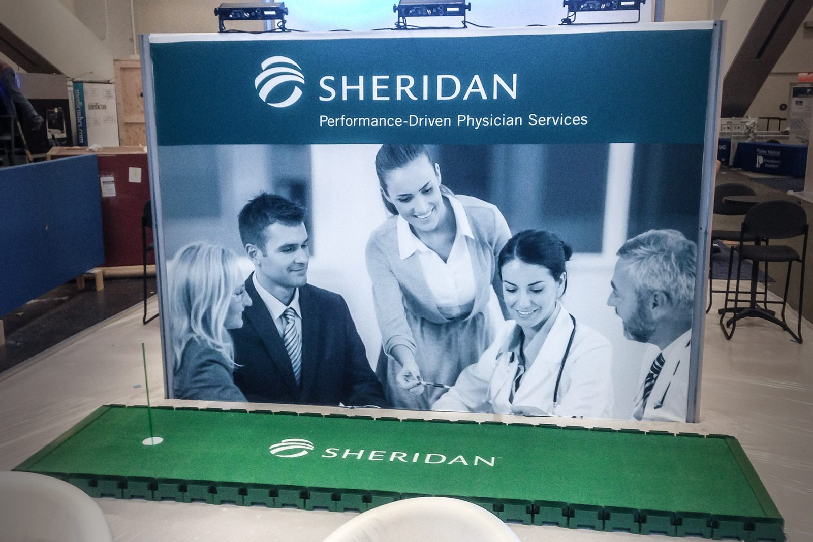 Sheridan at-show putting green promotion