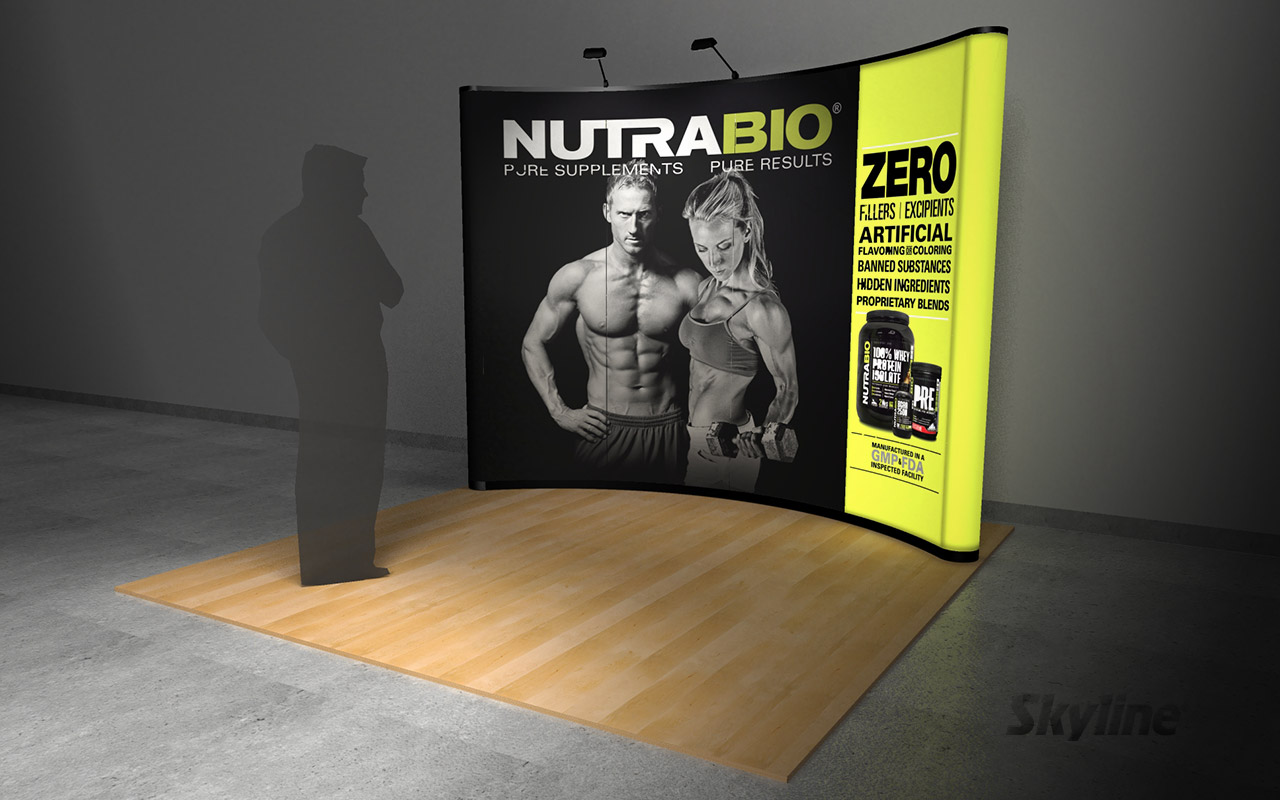 Nutrabio 10 ft Backlit Backwall Exhibit Graphic