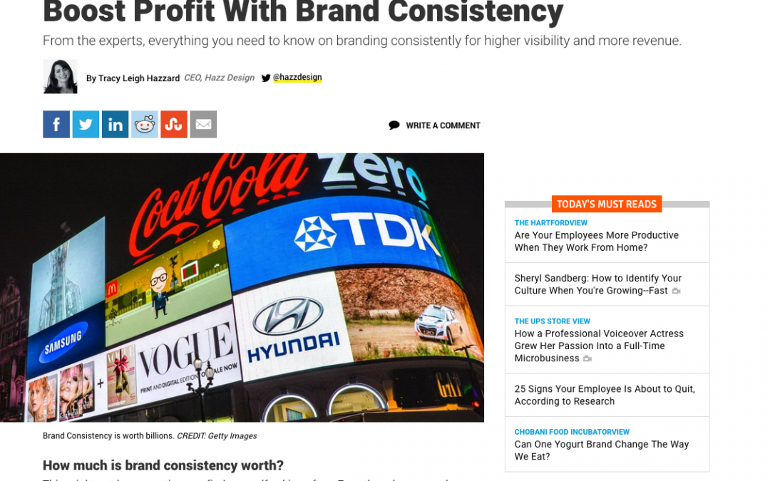 INC Article: Boost Profit With Brand Consistency